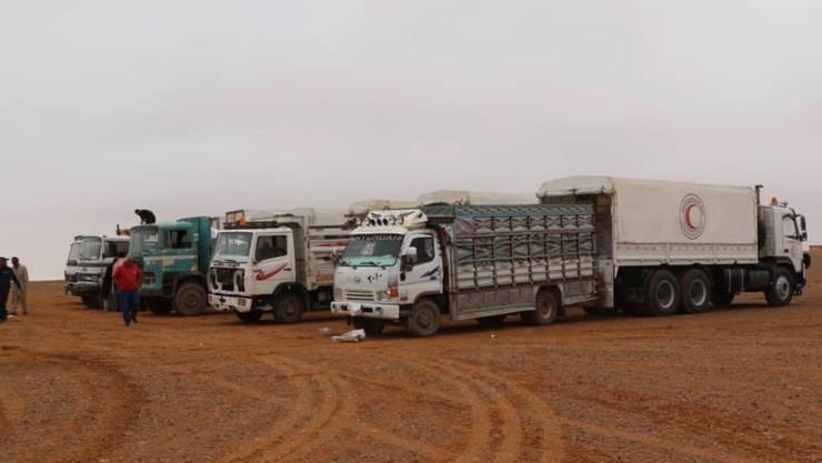 369 Lastwagen bringen seit Sonntag Hilfsmittel für 650'000 Syrer ins Land. (Symbolbild)