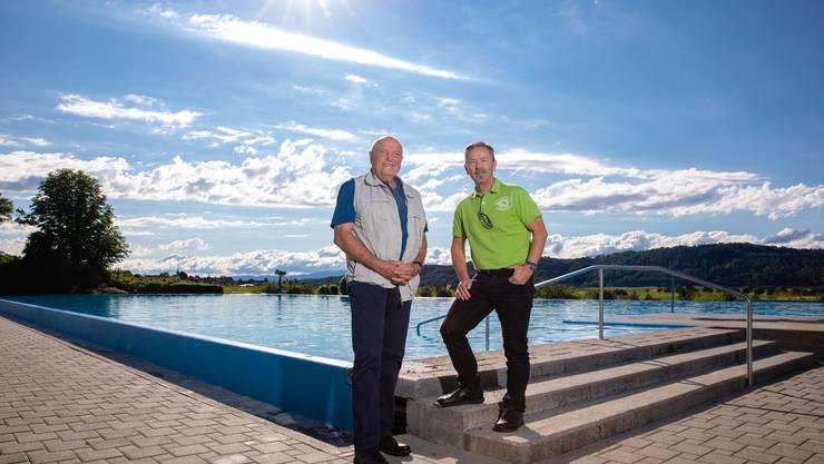 Die beiden Zweckverbandspräsidenten Bernhard Jöhr (links) und Peter Gerber.