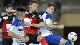 Super-League-Aufsteiger Lausanne will FCA-Abwehrchef Stéphane Besle (Mitte) verpflichten
