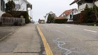 Die Trottoirsituation an der Bleichenbergstrasse ist nicht überall gleich befriedigend.