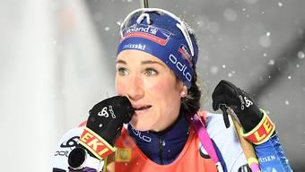 Aita Gasparin blickt auf die Resultatwand. (Archivaufnahme)