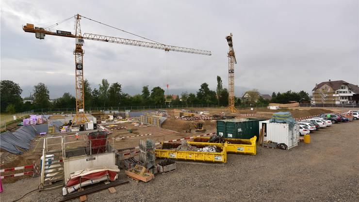 Überbauung «Am Weidrain»: Hier entsteht ein neues Quartier mit 67 Wohnungen in 10 Mehrfamilienhäusern.