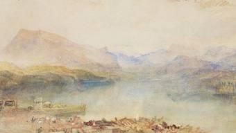 "Joseph Mallord William Turners Aquarell ""The Rigi, Lake Lucerne"" befindet sich neu in der Sammlung des Kunstmuseums Luzern."