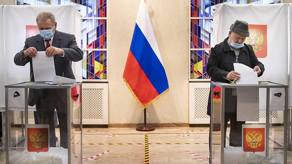 Kremlpartei feiert Sieg – Viele Verstösse