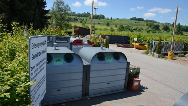 Die Entsorgungsstelle beim Werkhof Boswil erhält eine Überdachungt. Dafür wurde ein Kredit von 132 000 Franken genehmigt. ES
