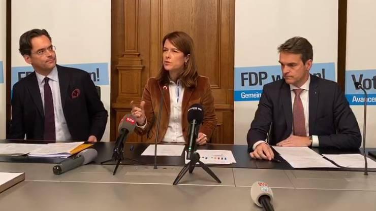 Olivier Feller, Regula Gössi, Beat Walti.
