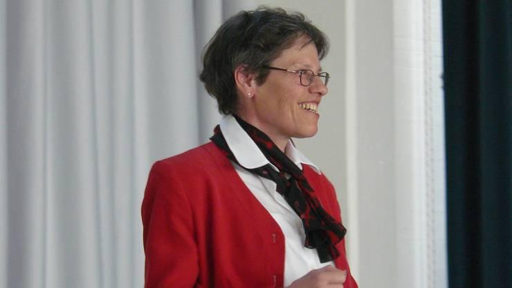 Barbara Stüssi-Lauterburg, Präsidentin der Schulpflege: «Das Leitbild soll in der Schule jeden Tag umgesetzt werden.» (hw)