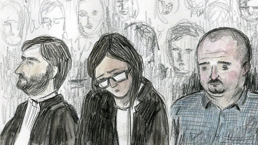Der Angeklagte im Fall des Tötungsdelikts an der 19-jährigen Marie (rechts) lehnt einen seiner Anwälte, Loic Parein (links), ab. Dieser habe ihm Informationen vorenthalten, so der Vorwurf.