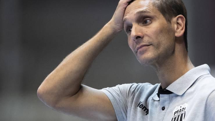 Pfadis Trainer Adrian Brüngger steht mit seinem Klub in der Qualifikation der neugeschaffenen European League vor dem Aus