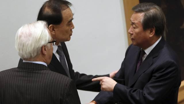 Die Vertreter Südkoreas, Russlands und Chinas diskutieren im UNO-Sicherheitsrat über die Sanktionen gegen Nordkorea