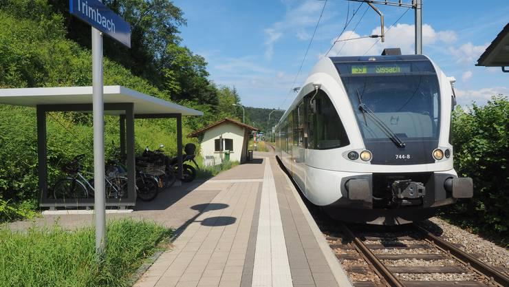 Das Läufelfingerli an der Haltestelle der Solothurner Gemeinde Trimbach