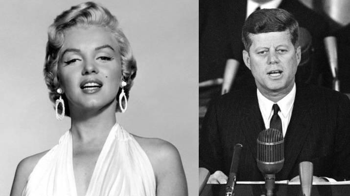 Marilyn Monroe und John F. Kennedy.