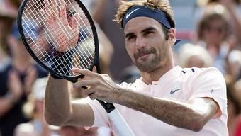 In Montreal glänzend unterwegs: Roger Federer spielt heute Abend im Halbfinal gegen Robin Haase