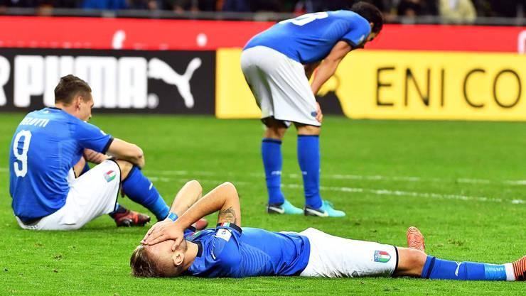 Die Italiener sind am Boden zerstört. 1958 fehlten sie letztmals an einer WM.