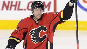 Sven Bärtschi spielt wieder im Trikot der Calgary Flames.