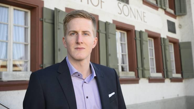 Wirtschaftsstudent Fabian Schütz präsidiert die SVP Windisch seit der letzten Generalversammlung nicht mehr interimistisch, sondern offiziell.
