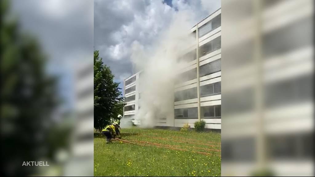 40 Personen in Buchs wegen Feuer in Schlafzimmer evakuiert