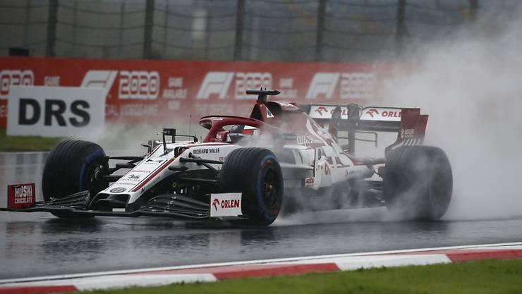Keine WM-Punkte gab es trotz guter Ausgangslage für den Hinwiler Rennstall Alfa Romeo. Kimi Räikkönen klassierte sich als Fünfzehnter