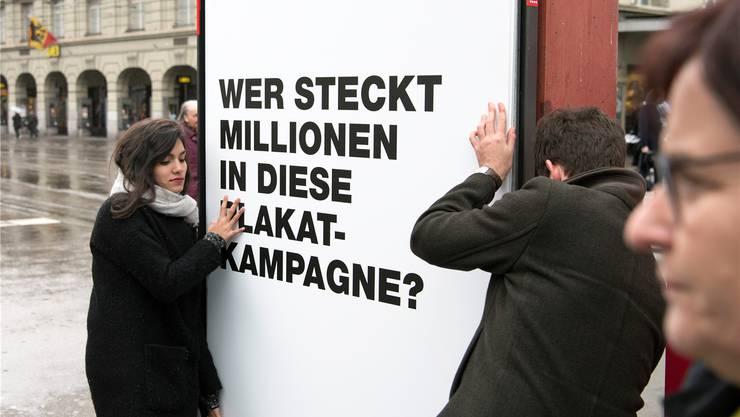 Werbung für transparente Werbung: Das Plakat zur Transparenz-Initiative.