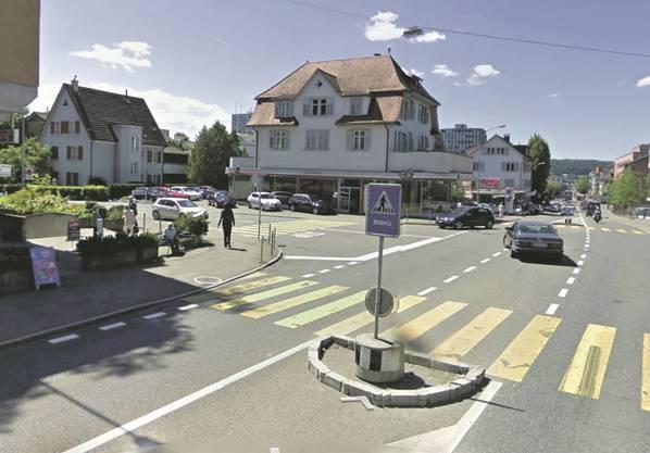 Eine Aufnahme aus Street View von Wettingen.