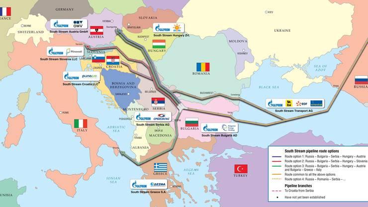 Das Projekt South Stream
