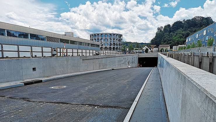 Sieht schon fast fertig aus: die nördliche Tunneleinfahrt.