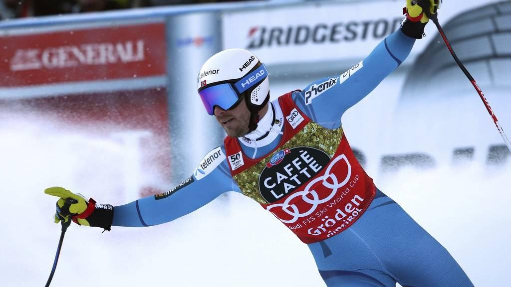 Kjetil Jansrud gewinnt auch das dritte Speed-Rennen des Winters.
