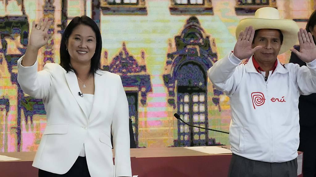 Castillo liegt bei Präsidentschaftswahl in Peru knapp vor Fujimori