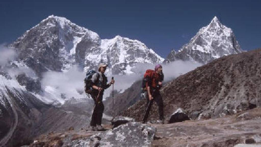 Das Alpinistenpaar hat es geschafft: Gemeinsam bestiegen Meroi und Benet alle Achttausender der Welt.
