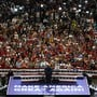 """Der Sloagan """"Make America Great Again"""" darf bei einer Wahlkampfveranstaltung von Donald Trump nicht fehlen."""