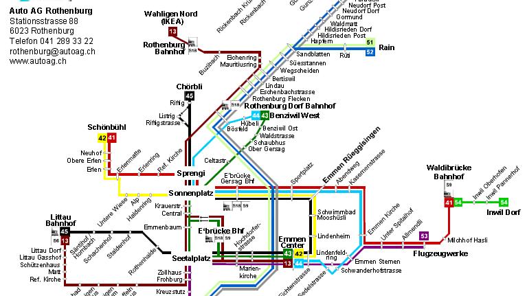 Buslinie 51 fährt weiterhin bis zum Bahnhof Luzern
