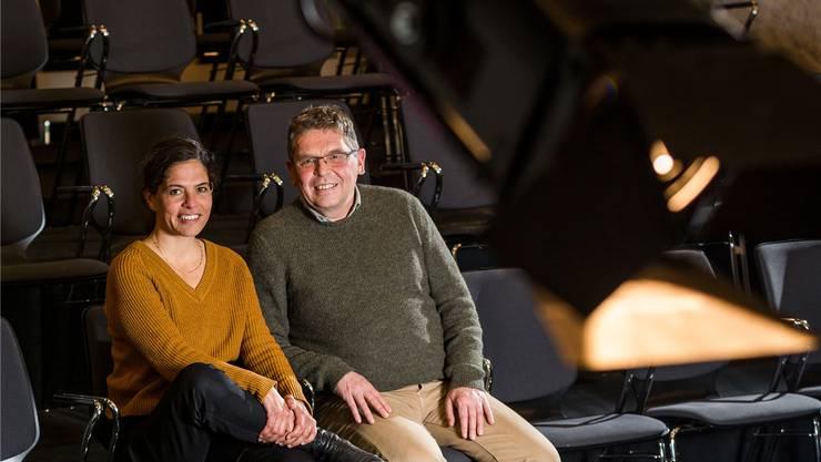 Sibylle Lichtensteiger, Leiterin Stapferhaus, und Peter-Jakob Kelting, Leiter Theater Tuchlaube. Sandra Ardizzone