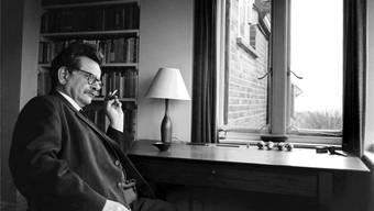 Der Wahlzürcher und Literaturnobelpreisträger Elias Canetti (1905–1994) in London 1959.