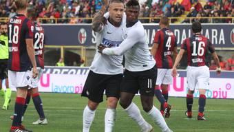 Radja Nainggolan schoss Inter in Bologna mit dem Führungstor auf die Siegesstrasse