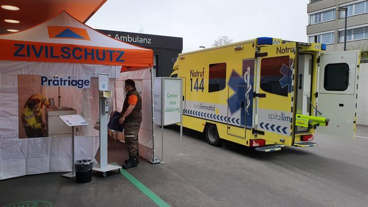 Die Limmattaler Zivilschützer hatten am 4. März ihre ersten Corona-Einsätze geleistet – insbesondere im Spital Limmattal.