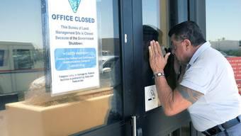 Budgetstreit: US-Bundesangestellte in den Zwangsferien