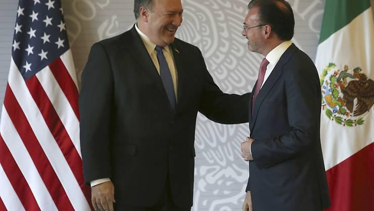 Die USA besuchen am Freitag Mexiko mit einer hochrangigen Delegation - angeführt von US-Aussenminister Mike Pompeo (links).