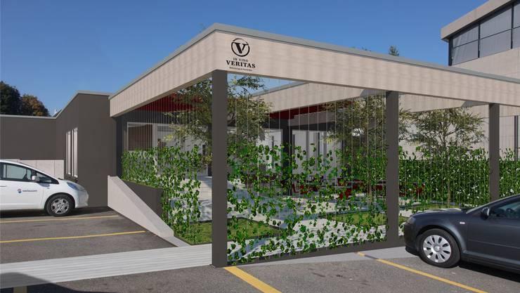 Die Wein-Lounge zwischen Post und Raiffeisenbank Muri soll auch einen schönen Garten erhalten.