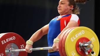 Nicht in Rio: Die russischen Gewichtheber (im Bild Nadeschda Jewstjuchina) sind an den Olympischen Spielen nicht erwünscht