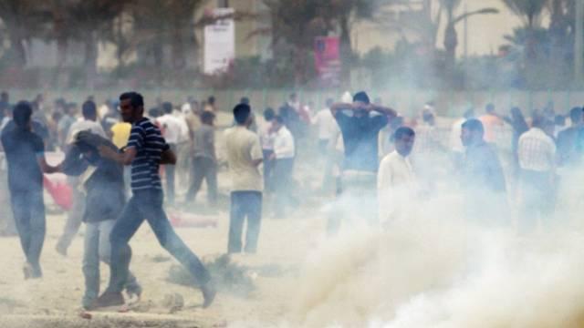 Bei den Demonstrationen in der Hauptstadt Manama kommt es zu Ausschreitungen