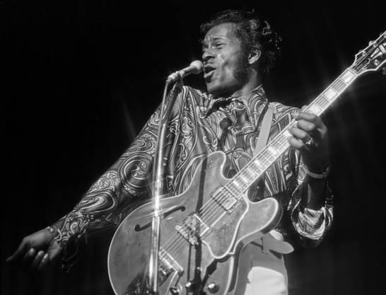 Chuck Berry bei einem Auftritt in Las Vegas im März 1972.
