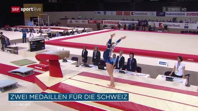 Schweizer Kunstturner brillieren an EM