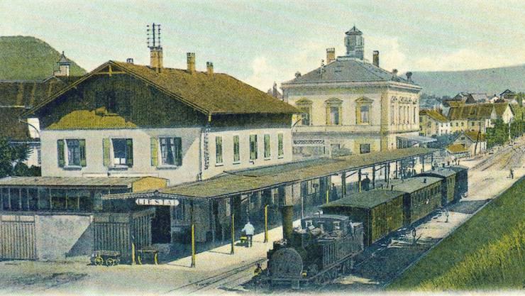 Alles oder nichts: Scheitert der geplante SBB-Neubau, wird sich der heutige Bahnhof Liestal noch jahrzehntelang nicht allzustark von dieser Darstellung aus den 1890er-Jahren unterscheiden.