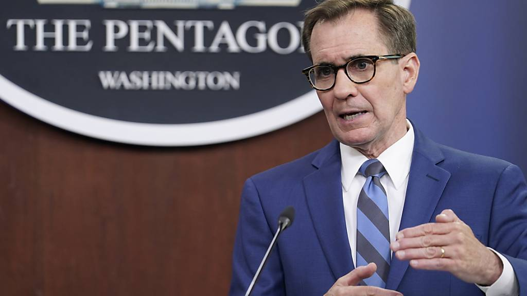 Pentagon-Sprecher John Kirby spricht während eines Briefings im Pentagon. Foto: Susan Walsh/AP/dpa