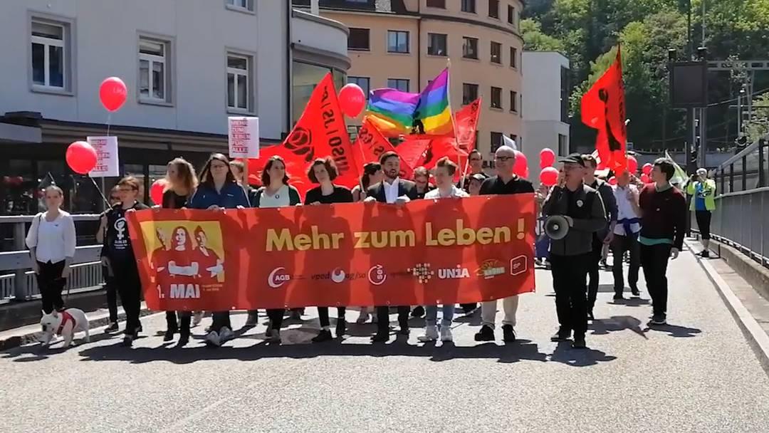 Impressionen von der 1. Mai-Kundgebung 2019 in Baden