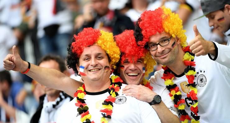 Deutsche Fans versprühen gute Laune.