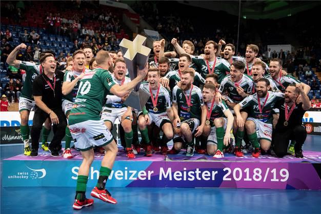 Rekordmeister: Wiler-Ersigen sichert sich mit einem 8:4-Sieg gegen GC den 12. Meistertitel der Klubgeschichte. Auf dem Weg in den Final schaltete der SVWE Uster (4:0) und Köniz (4:1) aus.