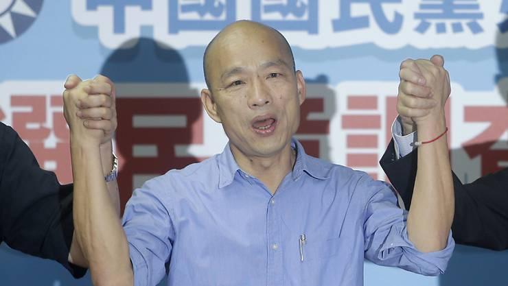 Der Bürgermeister der taiwanesischen Hafenstadt Kaohsiung, Han Kuo-yu, hat die parteiinterne Ausmarchung gewonnen und wird für die oppositionelle Kuomintang-Partei bei der Präsidentenwahl antreten.