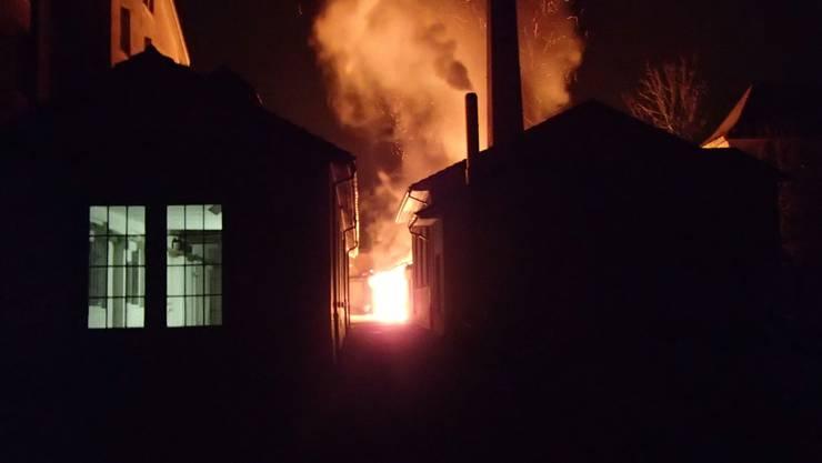 Brand an der Brodheitereistrasse in Aarburg