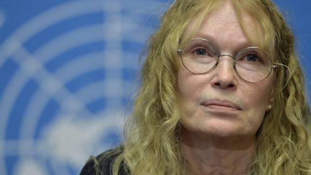 UNICEF-Sonderbotschafterin Mia Farrow (Archiv)